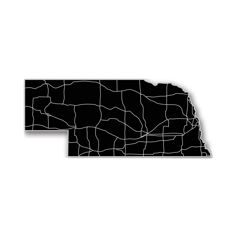 Nebraska Acrylic Cutout State Map Modern Crowd Touch Of Modern