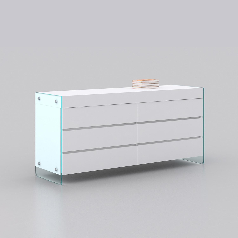 Il Vetro Dresser White High Gloss