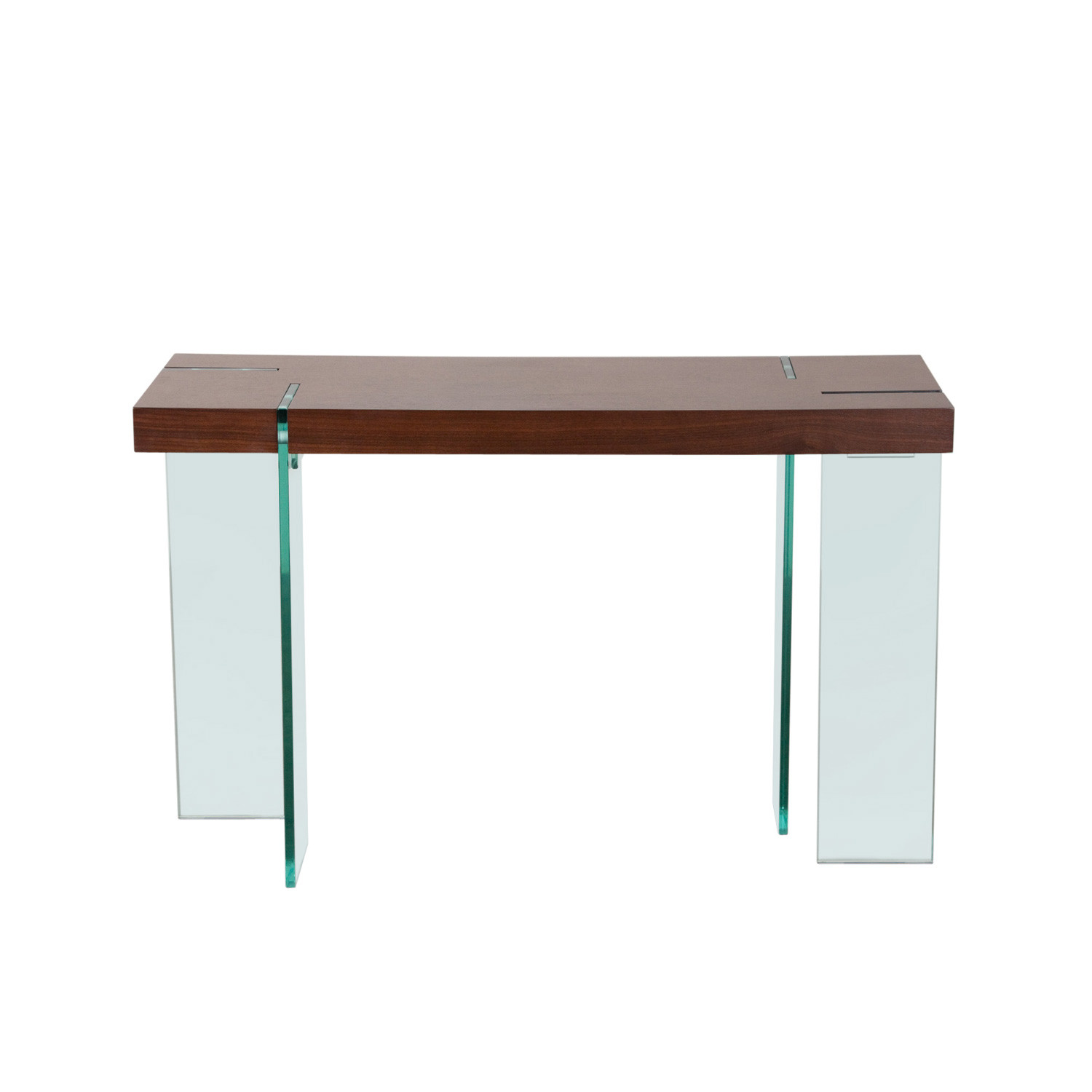 Glass Leg Console Table White Lacquer Diamond Sofa
