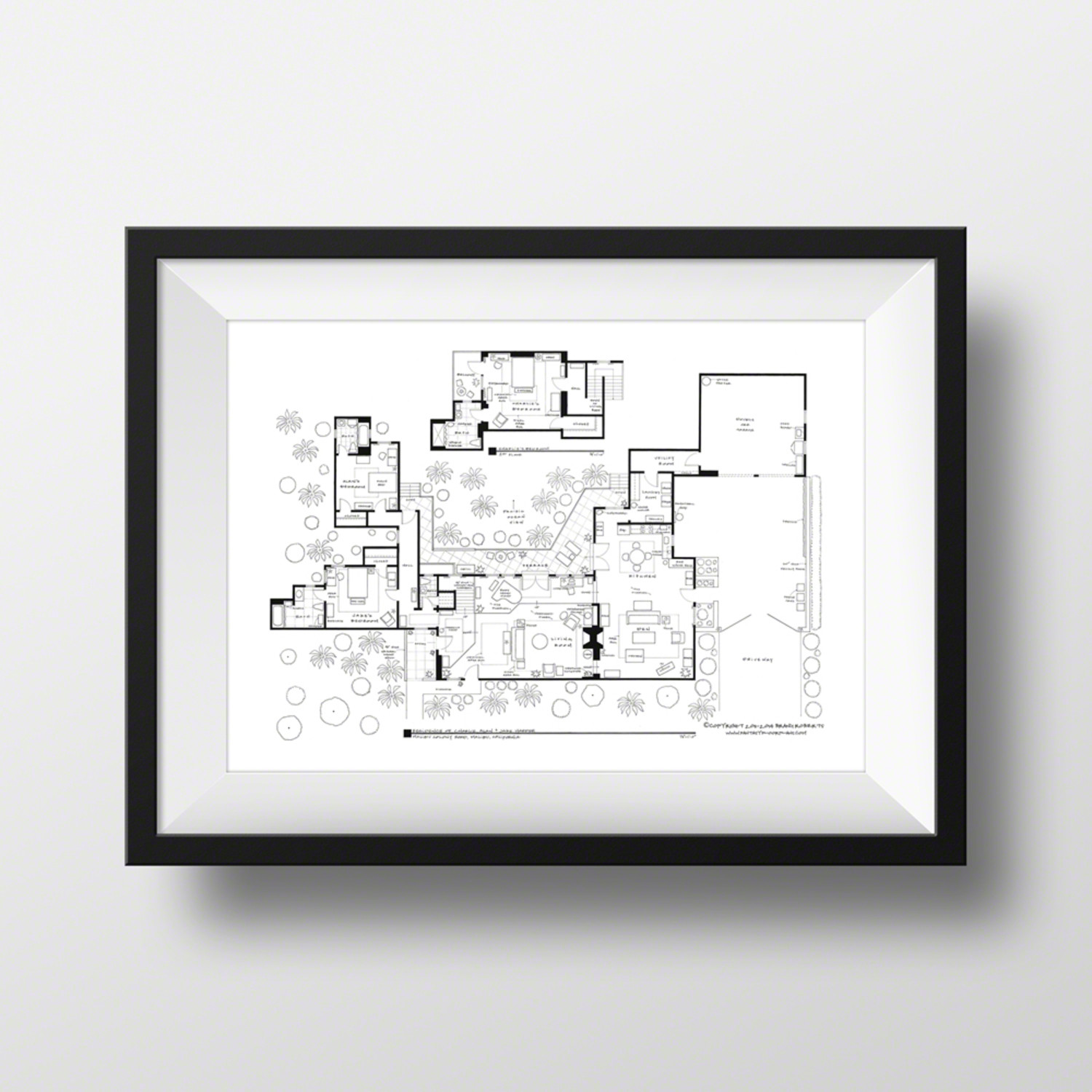 Two And A Half Men Charlie Harper Home Black Fantasy Floorplans Touch Of Modern