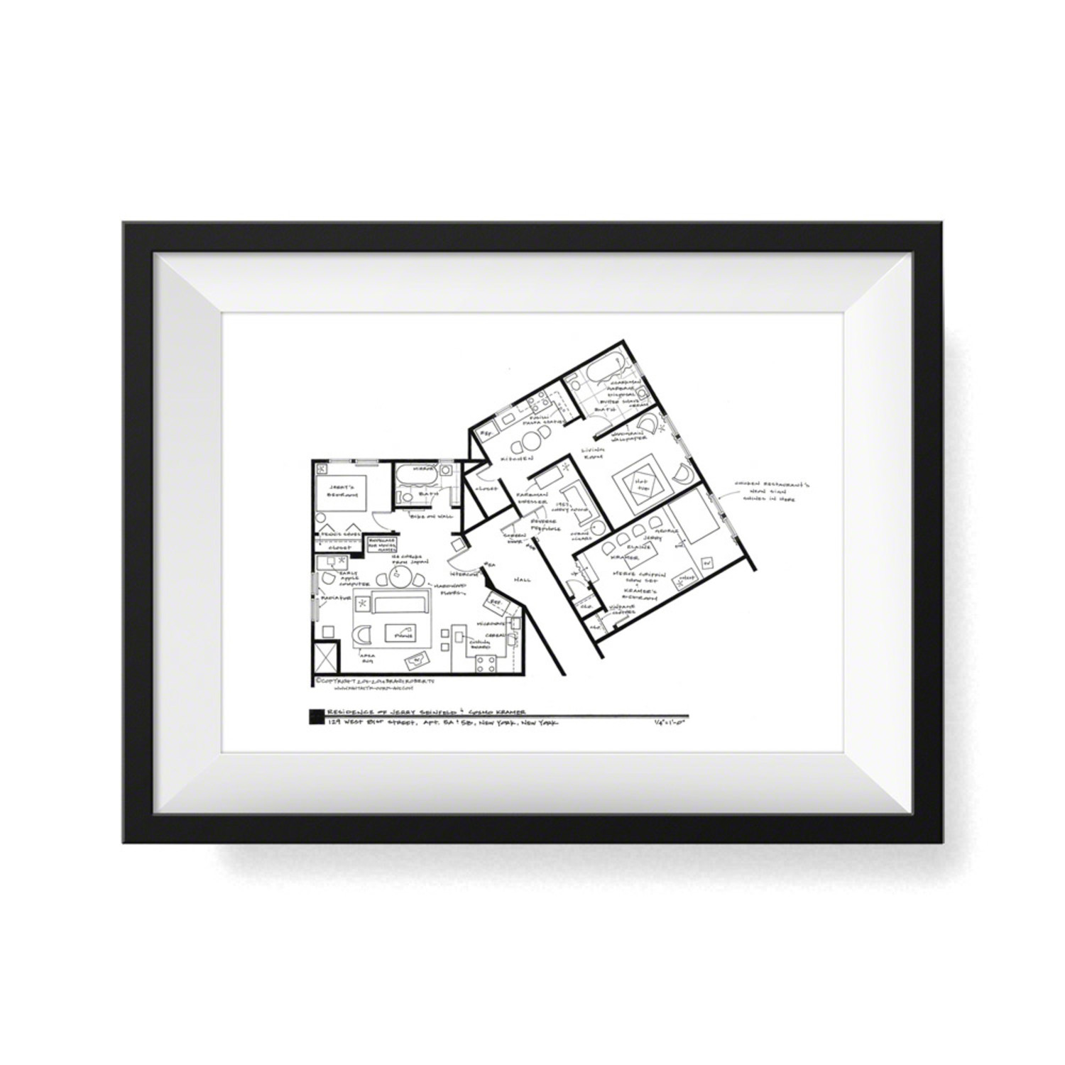 Seinfeld Kramer Apartment Fantasy Floorplans Touch