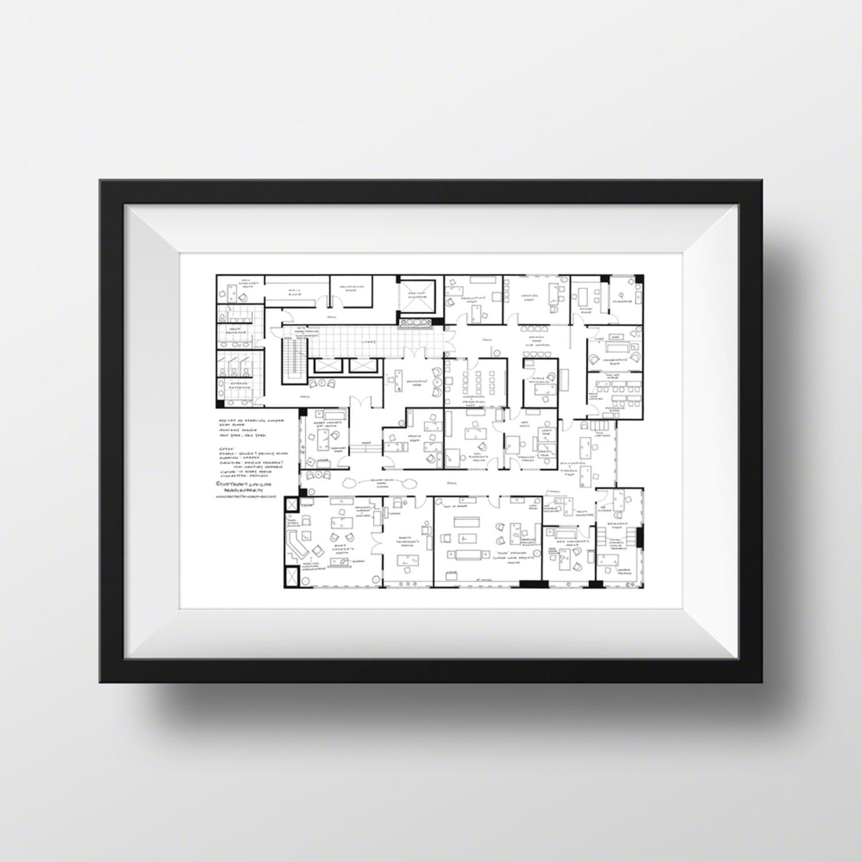 Mad Men // Sterling Cooper Offices 22nd Floor (Black