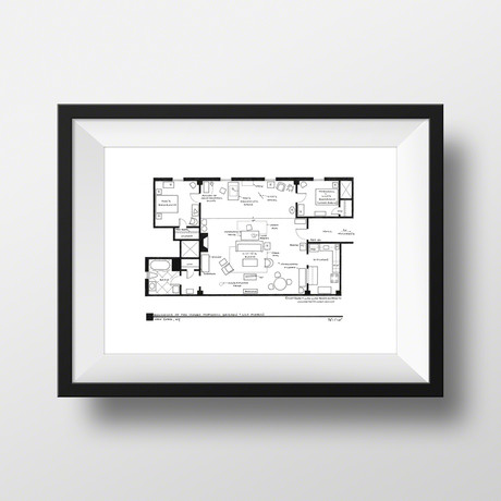 How I Met Your Mother // Ted Mosby Apartment (Black)