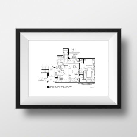 Friends // Monica & Rachel Apartment (Black)
