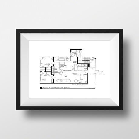 Friends // Joey & Chandler Apartment (Black)