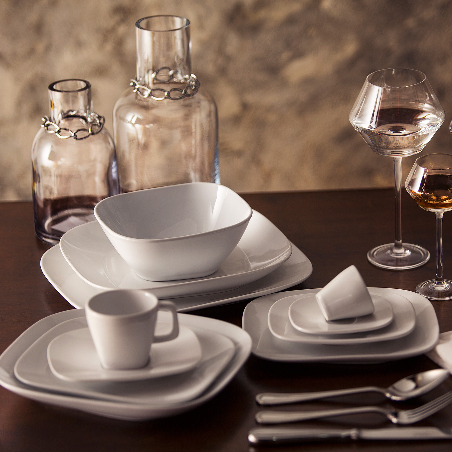 karim rashid dinnerware set  shift white   pc  karim  - karim rashid dinnerware set  shift white   pc