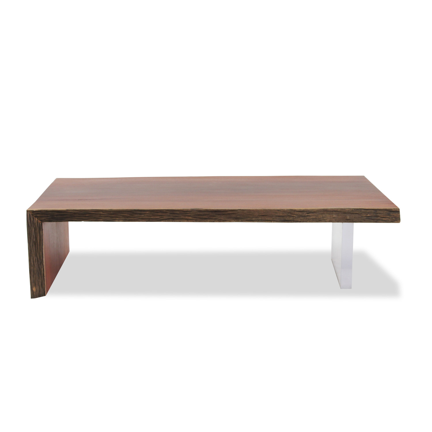 Solid Aru Wood And Acrylic Base Coffee Table