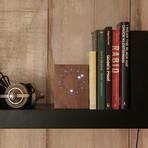 Analog LED Clock // Cool White LED (Walnut)