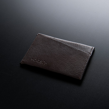 Dash Wallet // Vegetable Tanned Leather Wallet // Brown