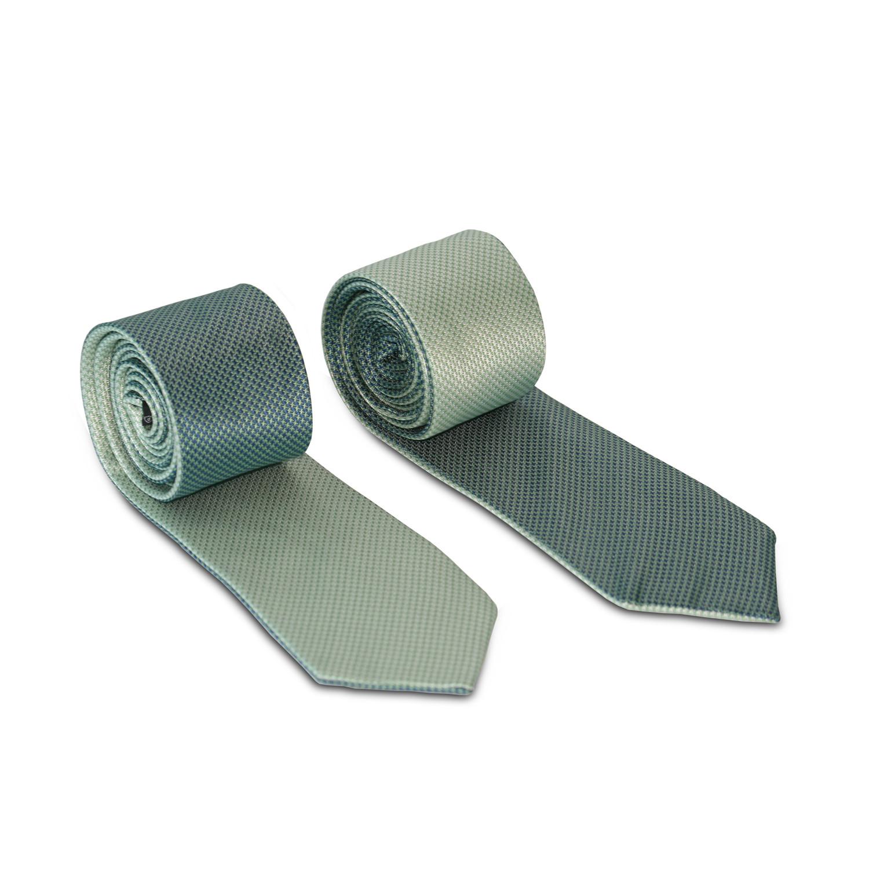 Reversible Magnetic Tie // Mint/Green Basketweave ...