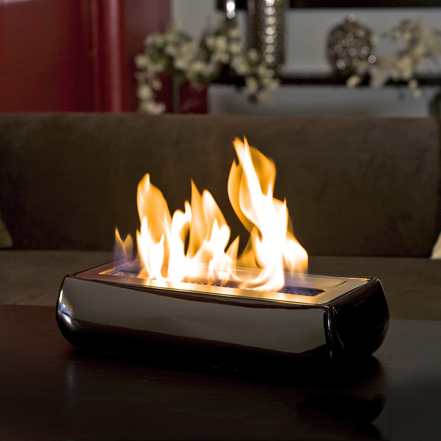 The Avani Portable Fireplace is made with a ceramic shell and stainless steel burner and is very compact. Its versatility makes it a great accessory for a smaller hom...