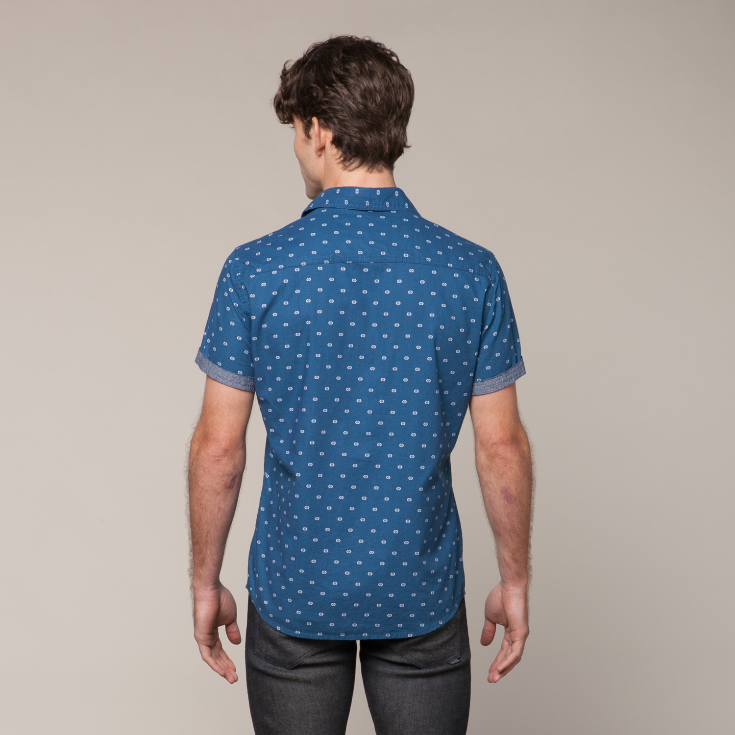 Button Up T Shirt Navy S Px Clothing Touch Of Modern