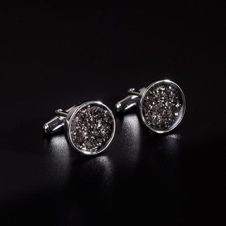 Meteorite Cufflinks // Round