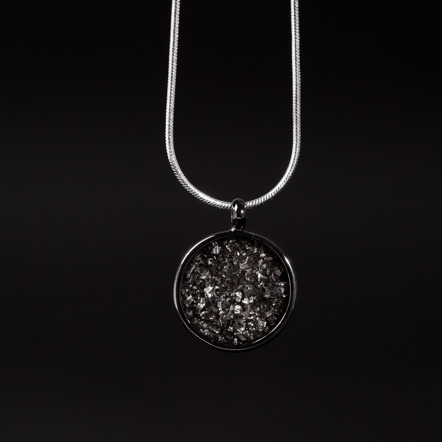 Meteorite necklace round off the cuff touch of modern meteorite necklace round aloadofball Image collections