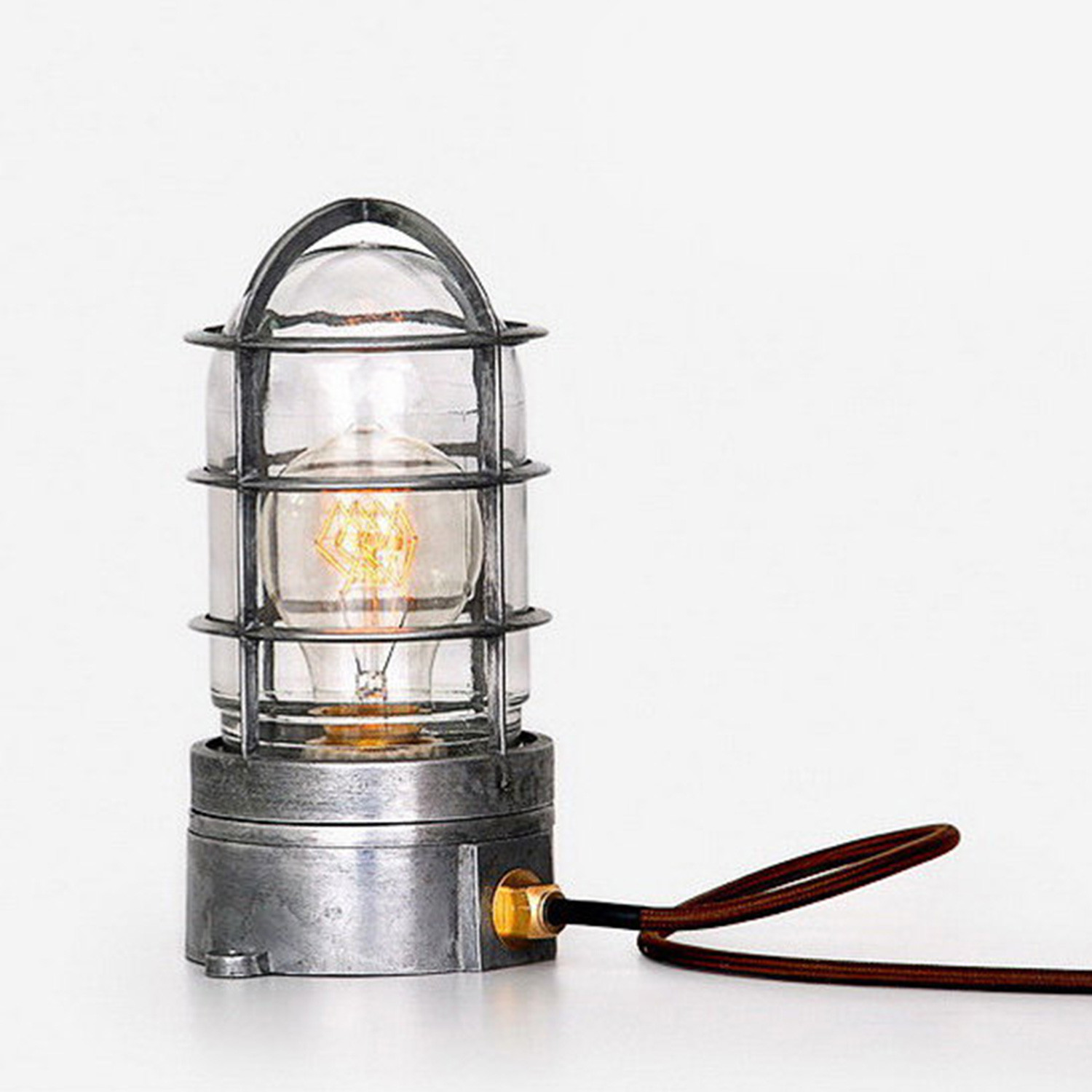 Edison Cage Table Lamp Industrial Industlamp Touch Of Modern