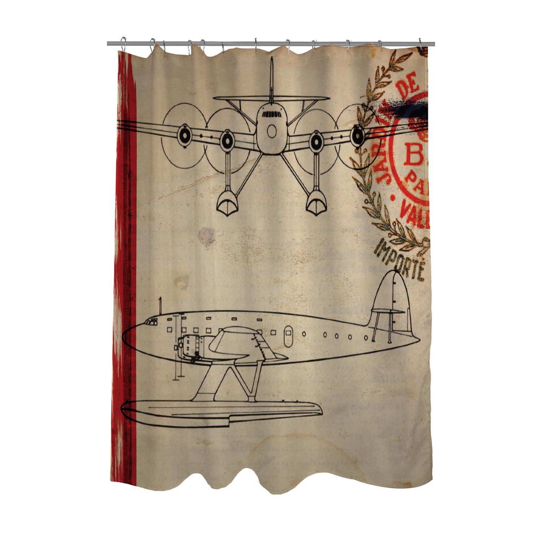 Air Espagne France 1946 Shower Curtain
