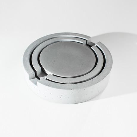Concrete Nesting Trivet Set (Gray)