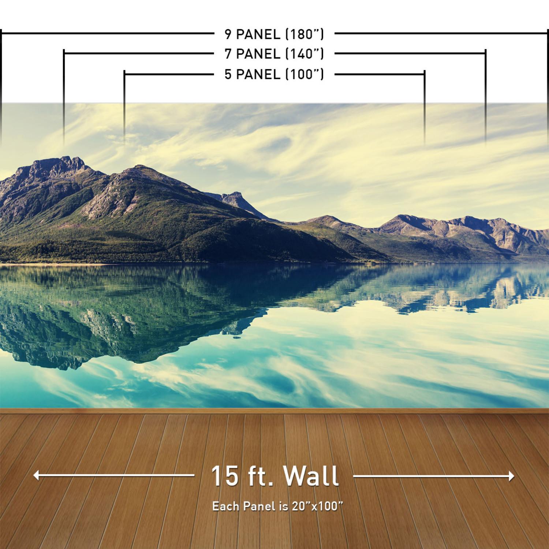Prismatic Fox Peel Stick Giant Wall Decal Set