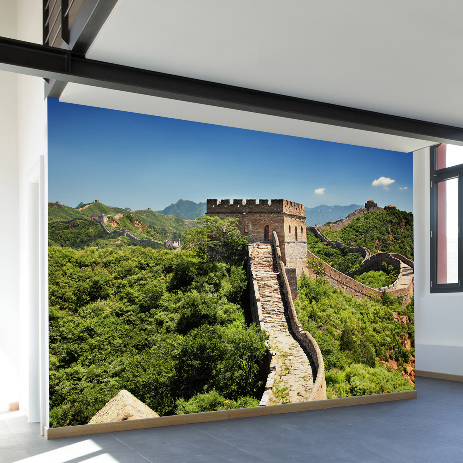 the great wall wall mural decal 100 l x 100 w walls. Black Bedroom Furniture Sets. Home Design Ideas