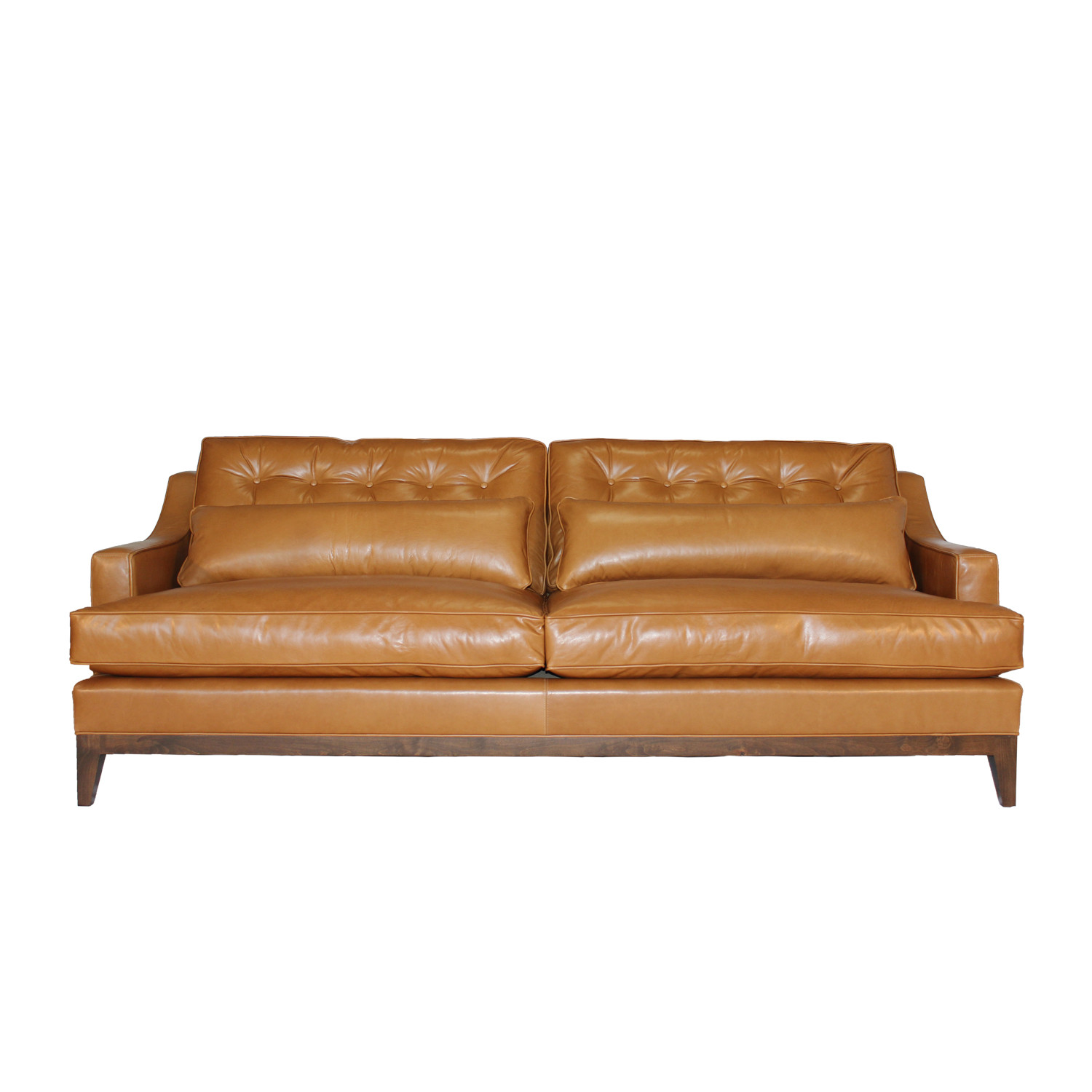 Alva leather sofa jaxon home touch of modern for L furniture warehouse victoria bc