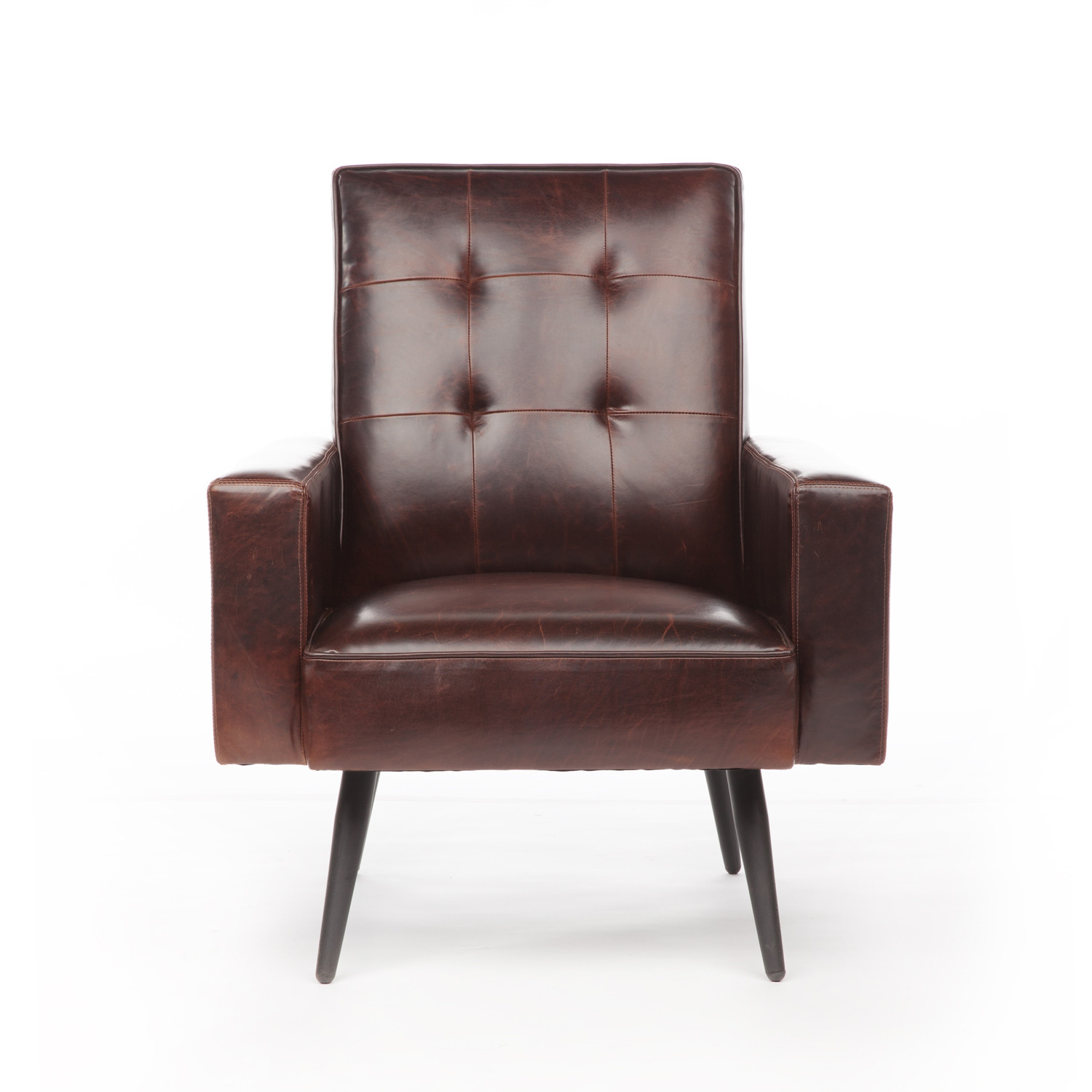 Awesome Stark Leather Chair Brompton Brown Jaxon Home Touch Ncnpc Chair Design For Home Ncnpcorg