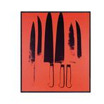 "Knives, c. 1981-82 // Red (21""L x 18.5""H x 2""D)"