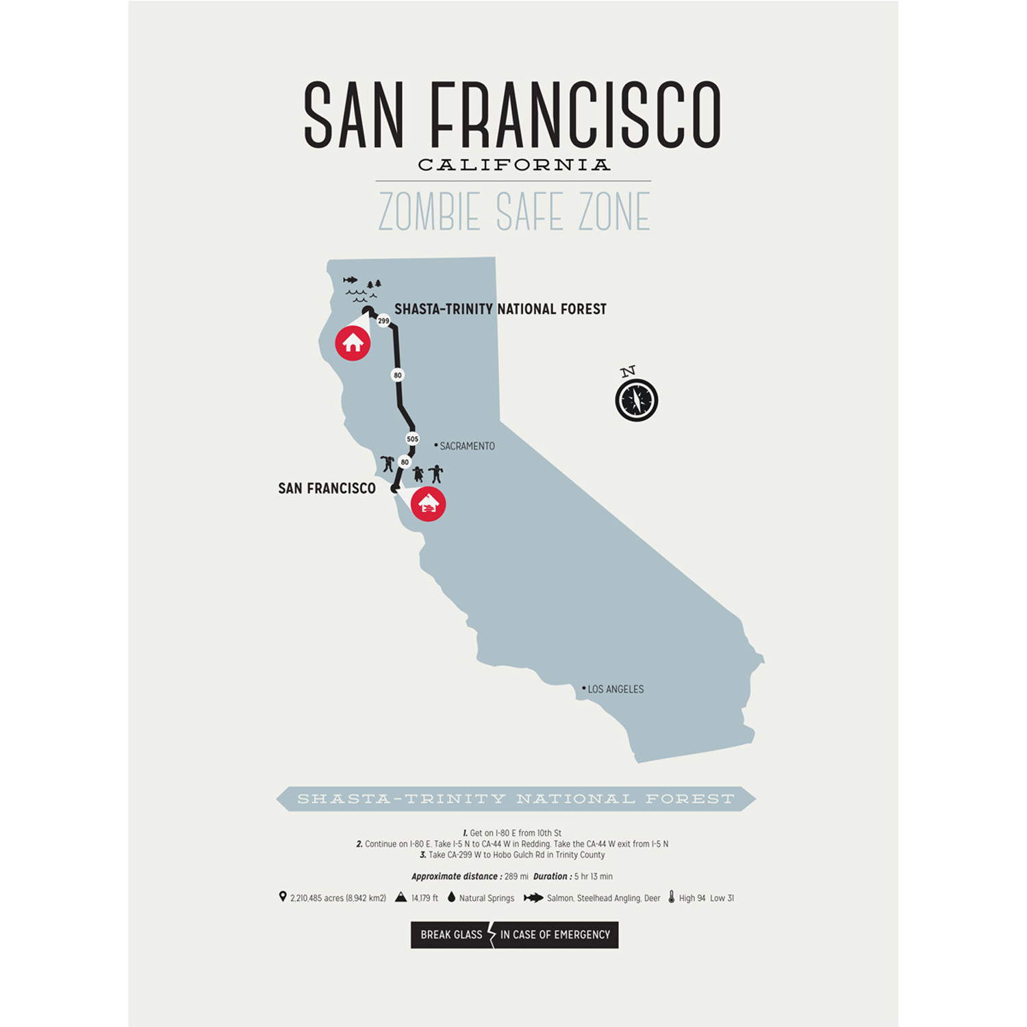 Zombie Safe Zone Map // San Francisco (Steel Blue) - Design ... on zone map of corpus christi, information of san francisco, flowers of san francisco, resources of san francisco, zone map of paris, zone map of hong kong, trees of san francisco, zone map washington, zone map of united states, zone map of rio de janeiro, secrets of san francisco, zone map of tulsa, zone map of wisconsin,
