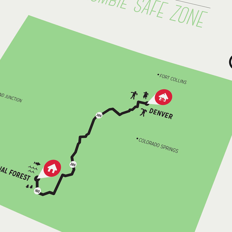 Zombie Safe Zone Map // Denver (Mustard)
