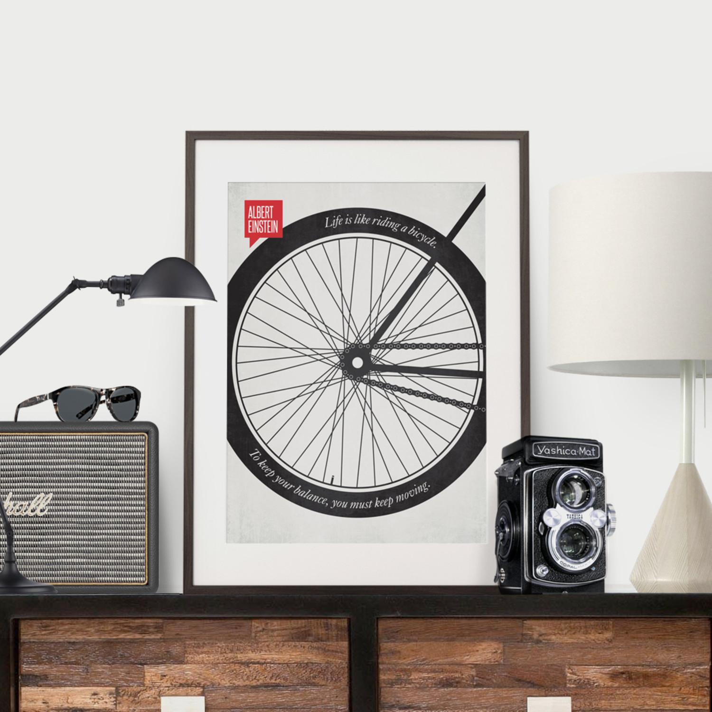 Albert Einstein Bicycle Poster Design Different