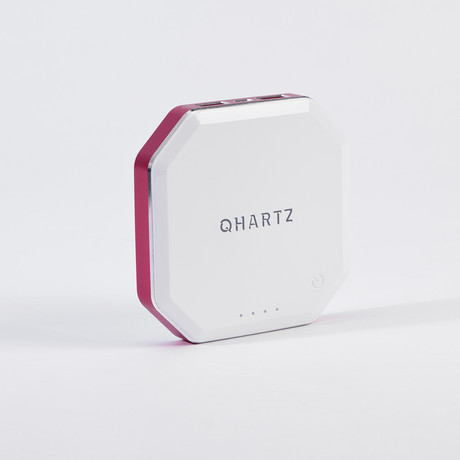 Qi Wireless Charger // 8000 mAh // White (Red)