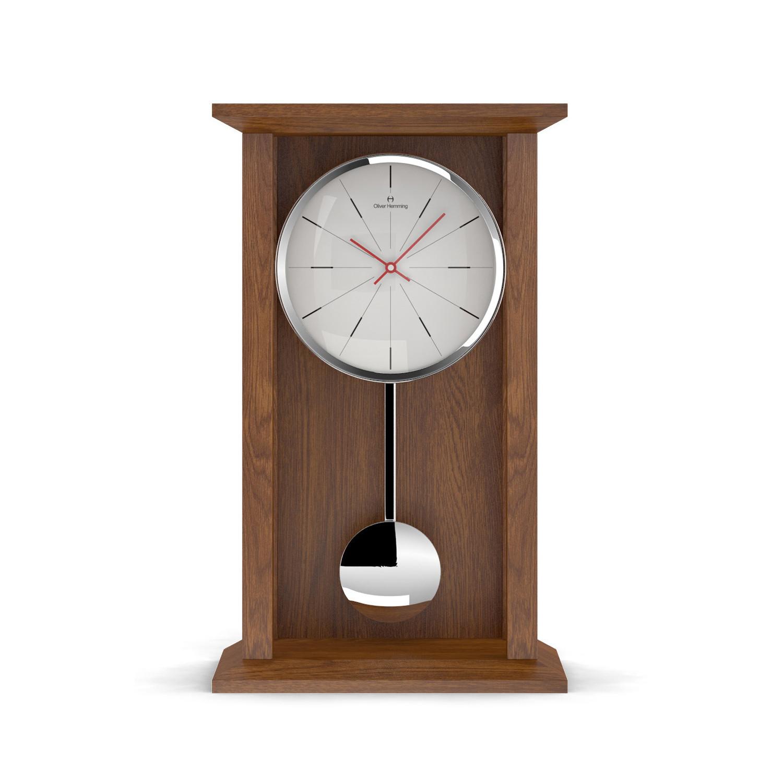 Tall natural oak pendulum table clock modern lines oliver tall natural oak pendulum table clock modern lines gamestrikefo Gallery