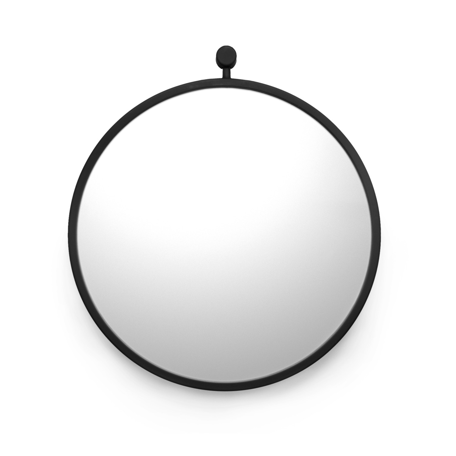 Hanging mirror matte black small kontext r touch for Small hanging mirror