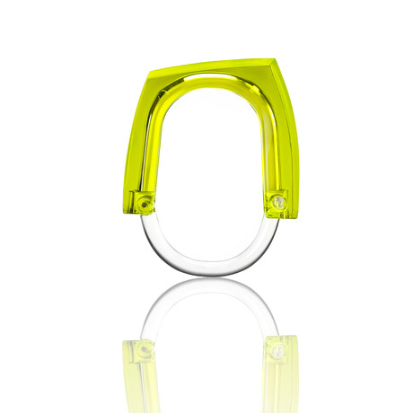 Neon + Squared Curtain Rings // Set of 12 (Green)