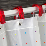 Color-Coded Shower Curtain (Multi-Color)