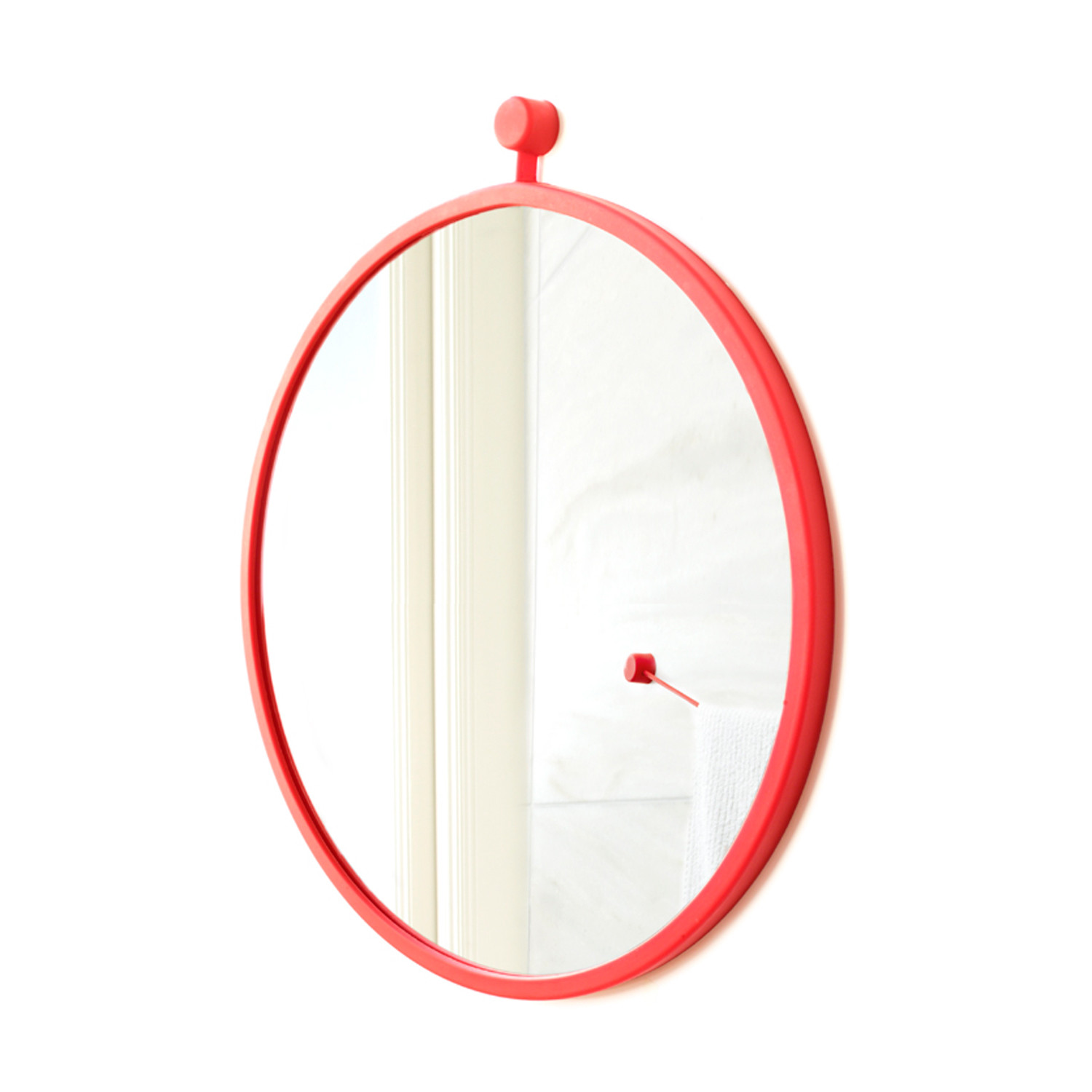 Hanging mirror ferrari red small kontext r touch for Small hanging mirror