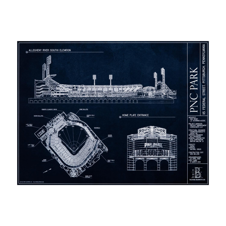 Pnc park pittsburgh pirates ballpark blueprints touch of modern pnc park pittsburgh pirates malvernweather Gallery