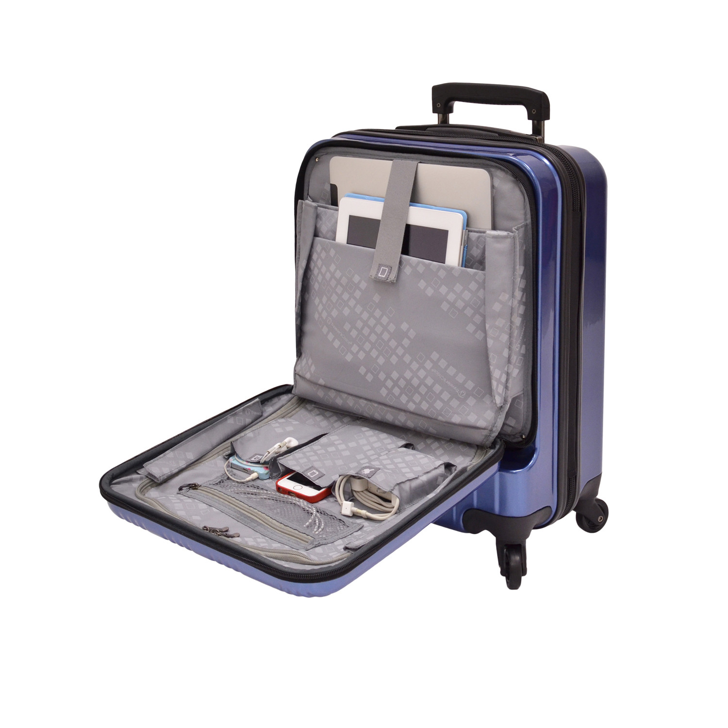 Traveler S Choice  In Front Opening Carry On Spinner