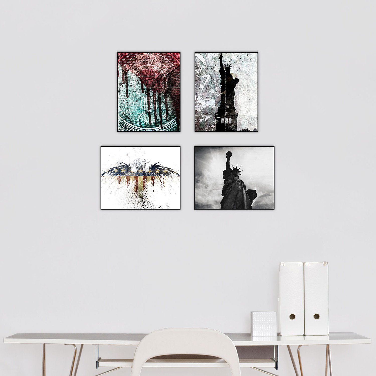 Make america great set of 4 alex cherry touch of modern for Alex cherry eagles become wall mural