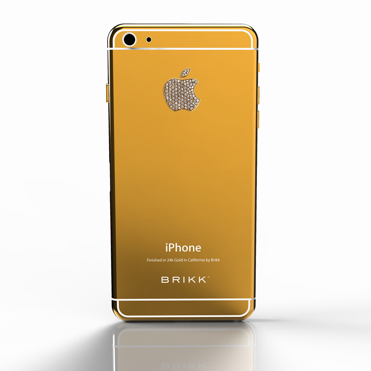 lux iphone 6 plus yellow gold diamond logo verizon or. Black Bedroom Furniture Sets. Home Design Ideas