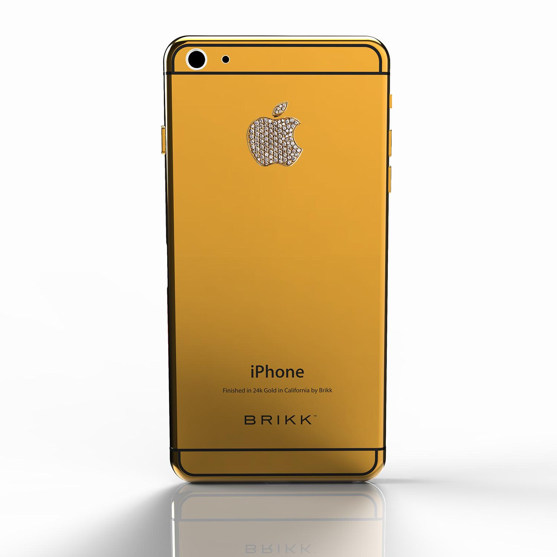 lux iphone 6 plus yellow gold diamond logo verizon or