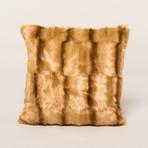 "Mink Pillow // Gold (18""L x 18""W)"