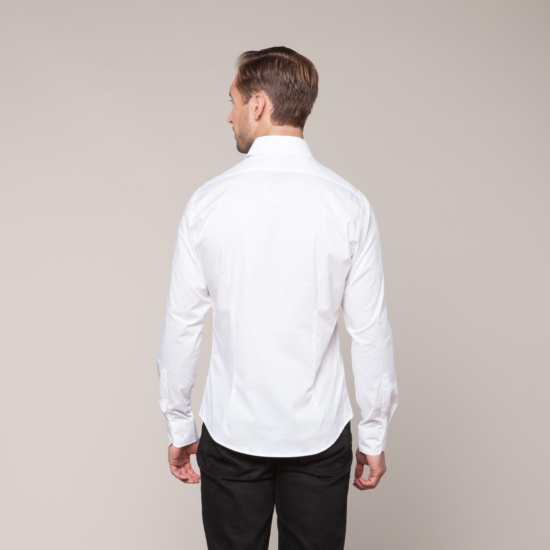 Button Down Slim Fit Shirt White Xs Karako Suits