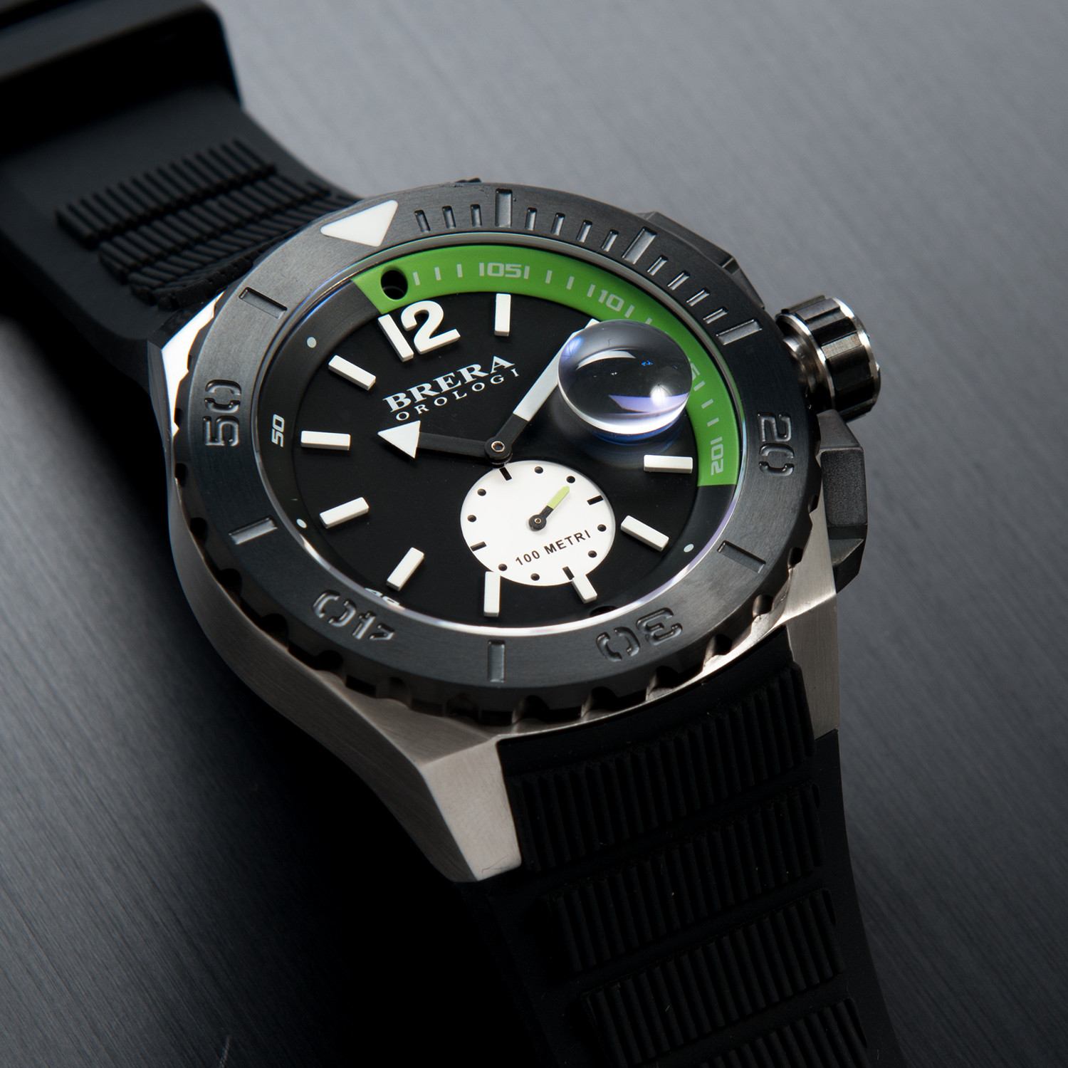 59cc4c80426 Acqua Diver    Black Green - Brera Orologi - Touch of Modern