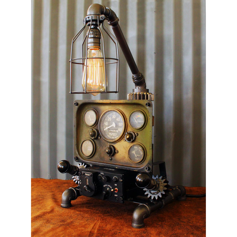 Beautiful Machine Age Aviation Lamp // No. 26