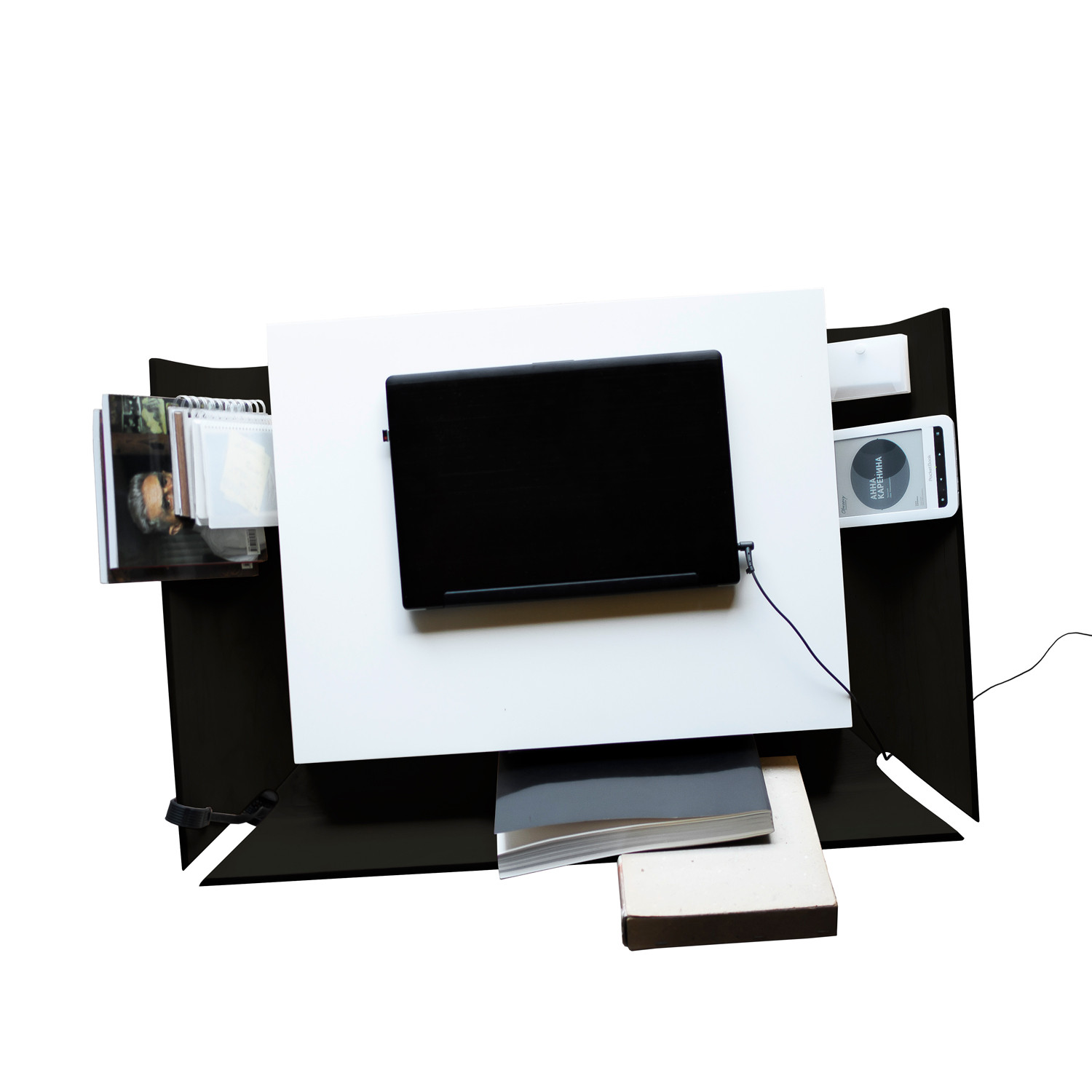 My Writing Desk // Single Drawer // Black EMKO Touch Of Modern. Full resolution  image, nominally Width 1500 Height 1500 pixels, image with #7C634F.