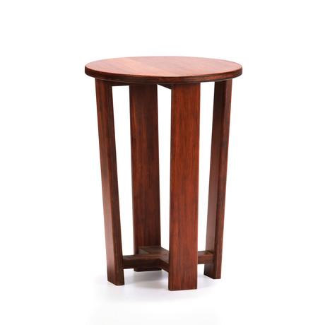 Daisy Round End Table // Classic Nutmeg