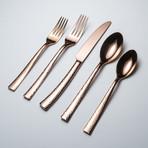 Paris Hammered Titanium Cutlery // Copper (5 Piece Set)