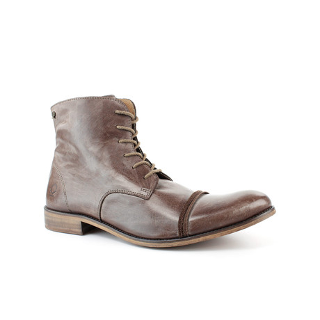 Urban Cap-Toe Ankle Boot // Brown (US: 7)