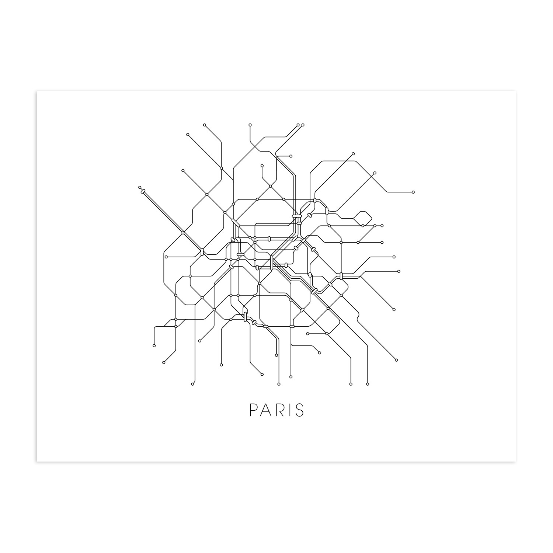 Paris Metro Map X Canvas MetroMaps Touch Of Modern - Modern map of paris