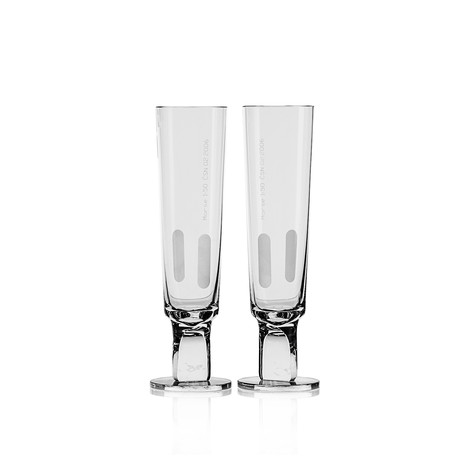 Morse Collection // Champagne Flute // Set of 2